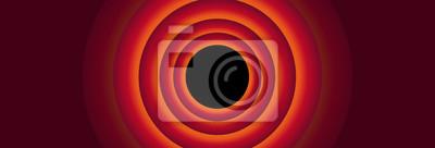 Fototapete Vintage cartoon red panoramic background