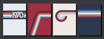 Fototapete Vintage Color Lines 1970s Style