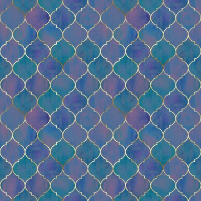 Fototapete Vintage decorative grunge indian, moroccan seamless pattern