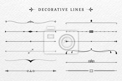 Fototapete Vintage decorative lines collection