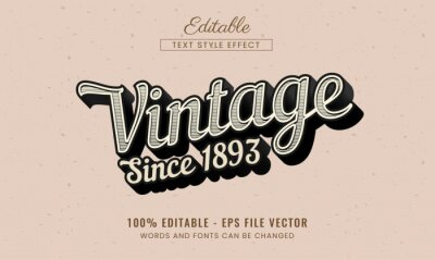 Fototapete Vintage editable text effect free vector