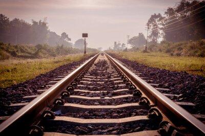 Fototapete Vintage Eisenbahn