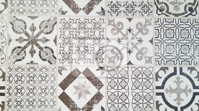 Fototapete Vintage Fliesen Komplizierte Details Für Einen Dekorativen Look.  Keramik Lackboden, Ornament Sammlung