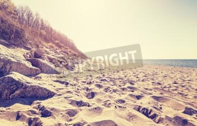 Fototapete Vintage getönten Bild von einem Strand bei Sonnenuntergang.