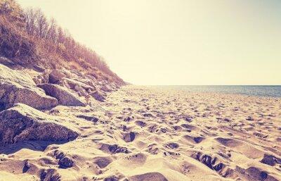 Fototapete Vintage getönten Strand bei Sonnenuntergang.