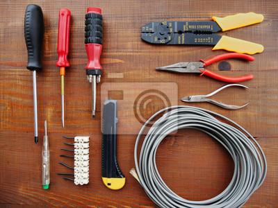 Vintage handwerkzeuge für elektrische arbeit diy reparatur und ...