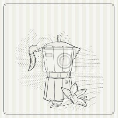 Vintage Hintergrund mit Kaffee