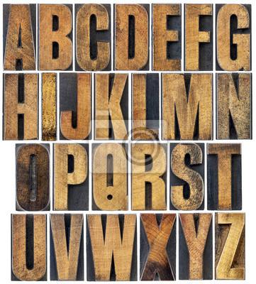 Vintage Holz Art Alphabet