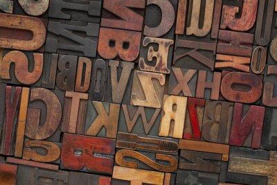 Vintage Holz Buchdruck Typ