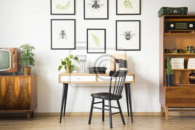 Vintage home-office-interieur fototapete • fototapeten studieren ...