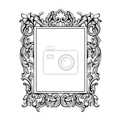 Vintage imperial barock spiegel rahmen. vector französisch luxus ...