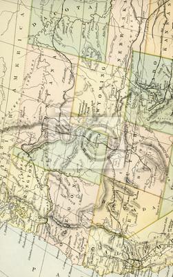 Fototapete: Vintage karte der usa - anfang 1800 usa karten