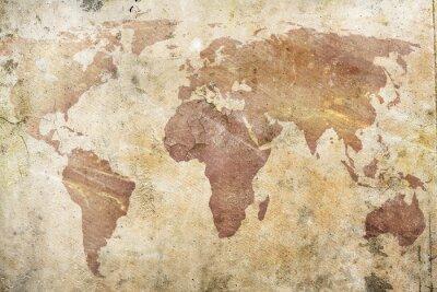 Fototapete Vintage Karte der Welt