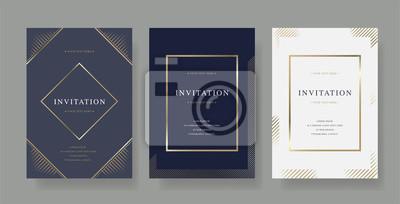 Fototapete Vintage luxury vector invitation card