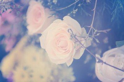 Fototapete Vintage Rose Blume Bouquet weichen Hintergrund