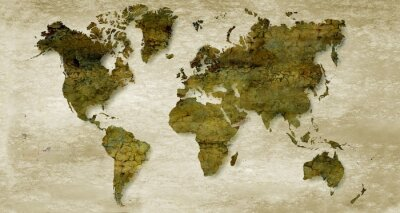 Fototapete Vintage sepia world map background