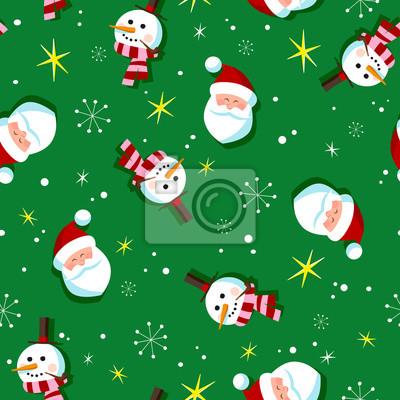 Vintagestil Weihnachten Packpapier Muster Nahtlose Fliesen - Fliesen vintage stil