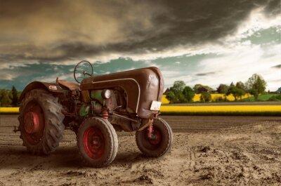 Fototapete Vintage Tractor