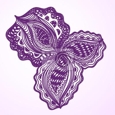 Violet abstrakten floralen Element für dekorative Gestaltung.