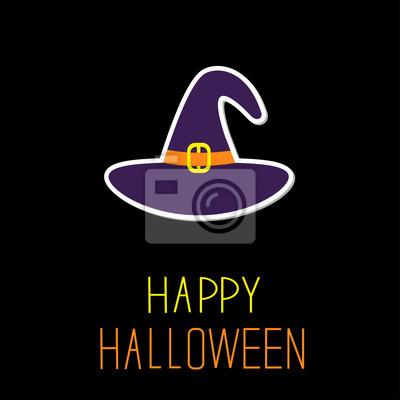 Violet Hexenhut. Happy Halloween-Karte.