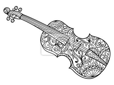 Violine Malbuch für Erwachsene Vektor