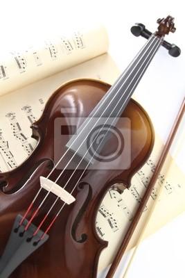 Violine und Musik-Blatt