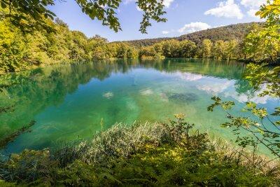 Fototapete Virgin Natur des Nationalpark Plitvicer Seen, Kroatien