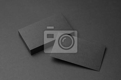 Fototapete Visitenkarte auf schwarzem Hintergrund