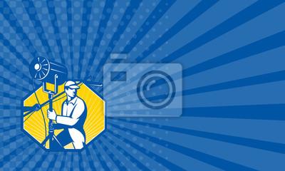 Visitenkarte Elektrische Beleuchtung Techniker Crew