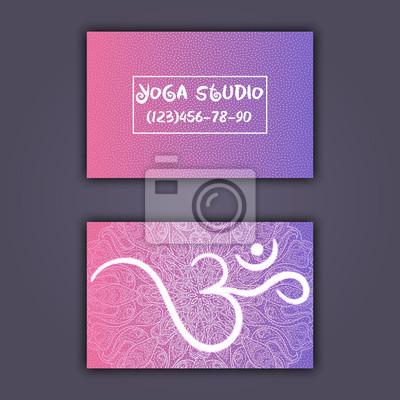Visitenkarte Für Yoga Studio Oder Yogalehrer Ethnischer