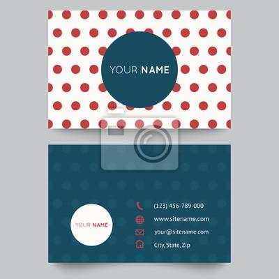 Visitenkarte Vorlage Rot Und Weiß Muster Vektor Design