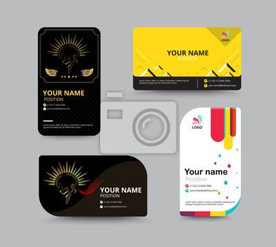 Visitenkarte Vorlage Visitenkarte Layout Design Vektor