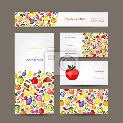 Visitenkarten-Design, Obst-Hintergrund