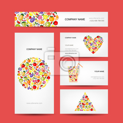 Visitenkarten-Design, Obst-Sammlung