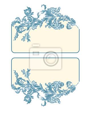 Visitenkarten, Etiketten, Knopf, Fahne, Farbe blau
