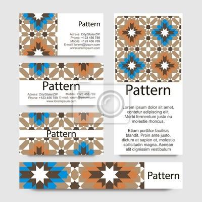 Visitenkarten Muster Inklusive Nahtlose Muster Fototapete