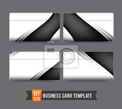 Visitenkarten Vorlage Eingestellt 010 Premium Technologie