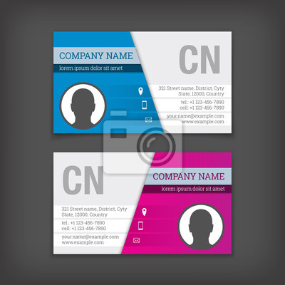 Visitenkarten Vorlagen Fototapete Fototapeten Branding