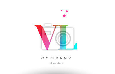 Fototapete Vl Vl Farbigen Regenbogen Kreative Farben Alphabet Buchstaben