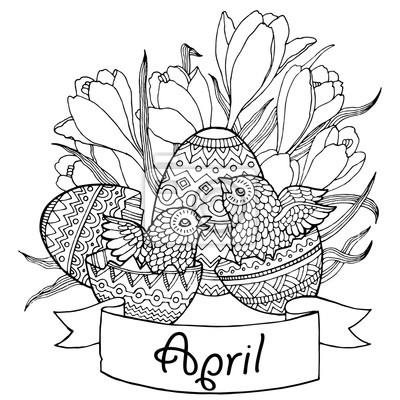 Vogel Eier Vektor-Illustration für Kalender