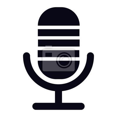 Voice recorder mikrofon-symbol fototapete • fototapeten Diktaphon ...