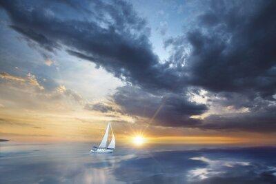 Fototapete Voilier en pleine mer