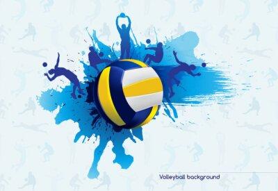 Fototapete Volleyball abstrakt