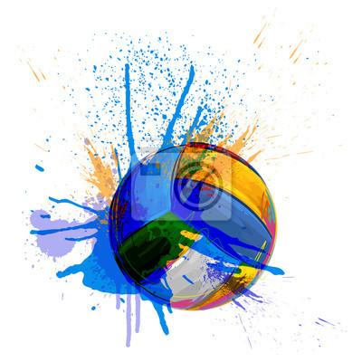 Volleyball Alle Elemente sind in separaten Ebenen und gruppierte.