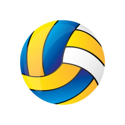 Volleyball-Ball-Symbol Abbildung Vektor-Illustration-Design