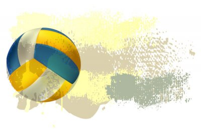 Fototapete Volleyball Banner All elements are in separate layers and grouped.