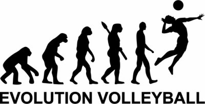 Fototapete Volleyball Entwicklung
