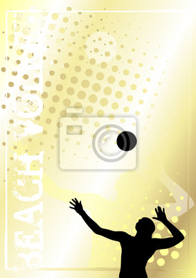 Volleyball golden poster background 1