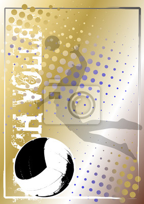 Volleyball golden poster background 5