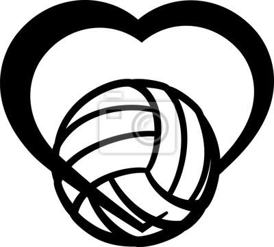 Volleyball-Herz